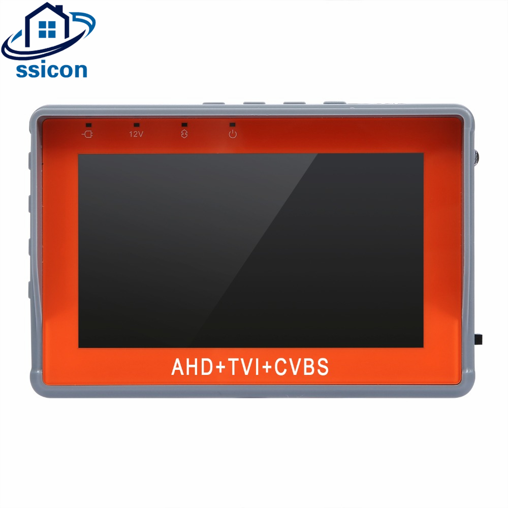 SSICON Newest 4.3 Inch 1080P AHD TVI Analog CVBS 3 In 1 CCTV Tester Monitor For Camera Mini Size CCTV Camera Tester