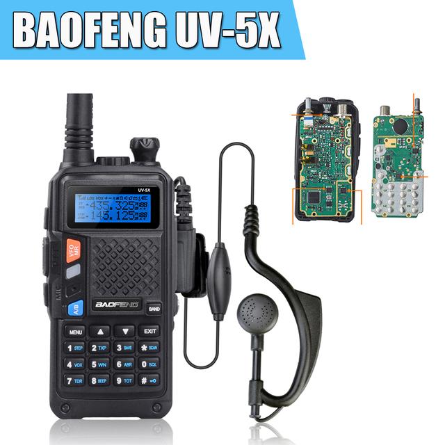BAOFENG UV-5X Original Placa Principal 128CH VHF UHF 136-174 400-520 Rádio Em Dois Sentidos Walkie Talkie Baofeng Versão Atualizada UV-5R UV5R