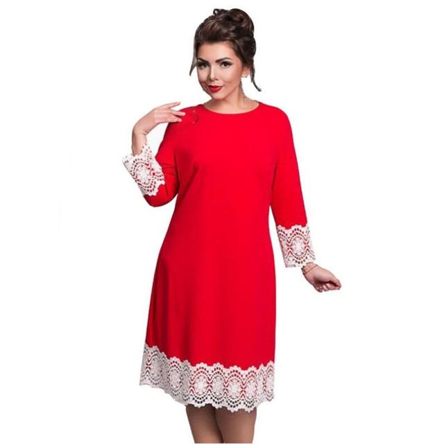 582c409d4d1 US $13.09 34% OFF|Aliexpress.com: MMMMNZ Store üzerinde Güvenilir Elbiseler  tedarikçilerden Yeni Moda 5XL 6XL Artı boyutu elbiseler Kadın Zarif ...