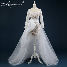 Real Made White Lace Appliques Wedding Dresses Summer Bridal Gown Sweep Train Wedding Gowns robe de mariage 2019 New