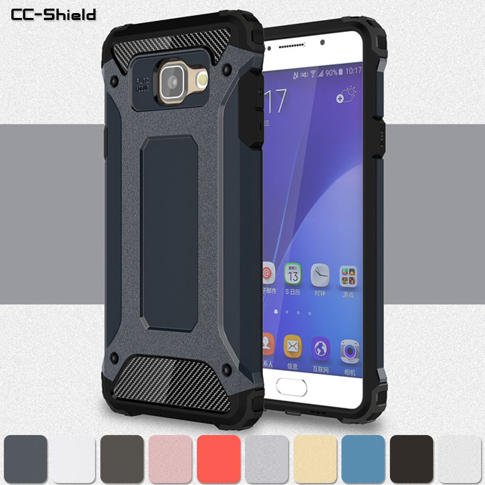Armor Case for <font><b>Samsung</b></font> <font><b>Galaxy</b></font> <font><b>A5</b></font> 2016 A510 Duos SM-A510F/DS A510F/DS Bumper Fitted Case for <font><b>Samsung</b></font> A 5 2016 <font><b>510</b></font> SM-A510 Cover image