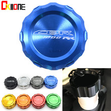 With CBR1000RR LOGO For Honda 2008-2014 Motorcycle CNC Front Clutch Fluid Reservoir Cap Master Cylinder Cover