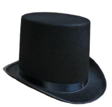El mago realiza alta Halloween sombrero gorra plana sombrero negro Jazz stage performances de hombres y mujeres