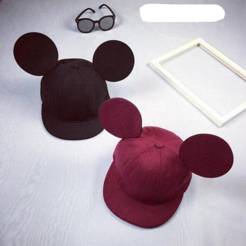 Prix pour 2016 Corée mignon mignon adulte casquette de baseball grand oreilles hip hop chapeau Snapback chapeau de bande dessinée femelle homme châle chapeau livraison gratuite