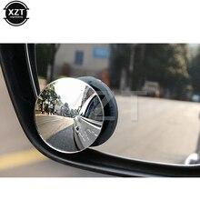 Автомобильный Стайлинг 360 градусов бескаркасное слепое зеркало широкий угол Круглое стекло высокой четкости выпуклые зеркала заднего вида