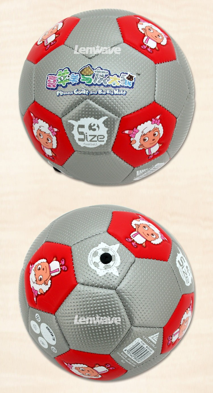 2016 New Children's Size 3 PU Football Ball Plesant Goat and Big Big Wolf Kids Sports Training Soccer Ball
