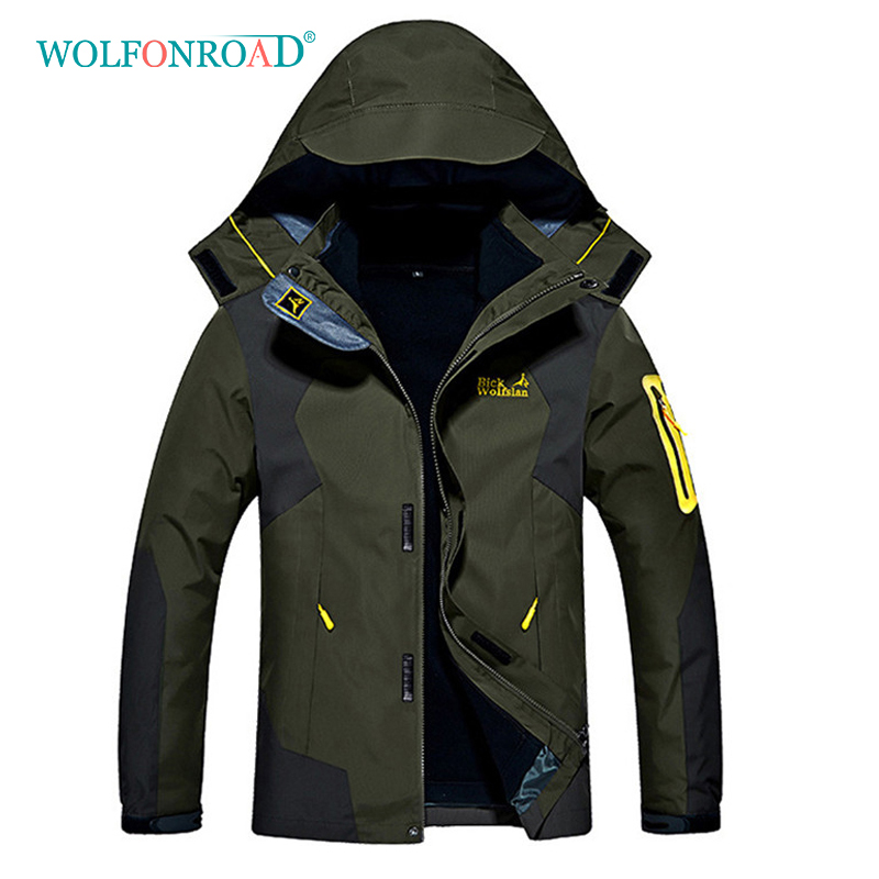 wolfonroad women 2 piece jackets waterproof outdoor sport thermal jacket coat winter hiking camping windbreaker mountain jackets WOLFONROAD Outdoor Thermal Fleece Hiking Jackets Women Men Camping Sport Jacket Winter Windbreaker 8XL Jackets Coat L-QZPL-20