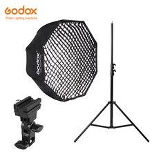 Godox 120cm parapluie octogonal nid dabeille grille Softbox avec 280cm support de lumière en aluminium, support Kit de support pour Flash Speedlight