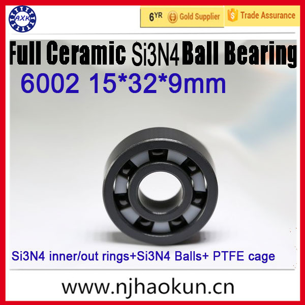 2017 Time-limited Hot Sale Thrust Bearing Rolamentos Rodamientos 15*32*9mm Full Ceramic Bearing 6002 Ball Si3n4 free shipping 6806 full si3n4 p5 abec5 ceramic deep groove ball bearing 30x42x7mm 61806 full complement