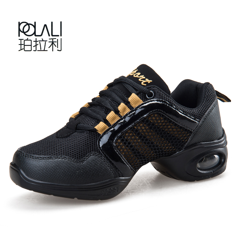 POLALI Dance Shoes Women Jazz Hip Hop Shoes Salsa Sneakers For Woman Feature Soft Outsole Breath Dance Shoes