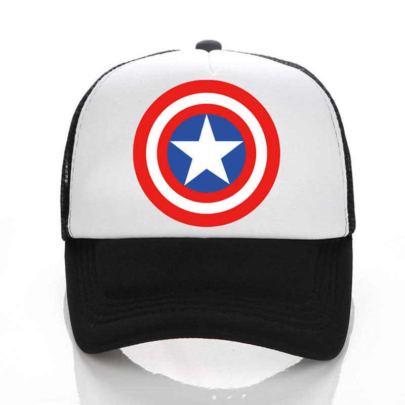 2e007d2807d0d Captain America Shield Logo Baseball Caps Mesh Cap Free Custom Design 100%  Polyester Blank Hip