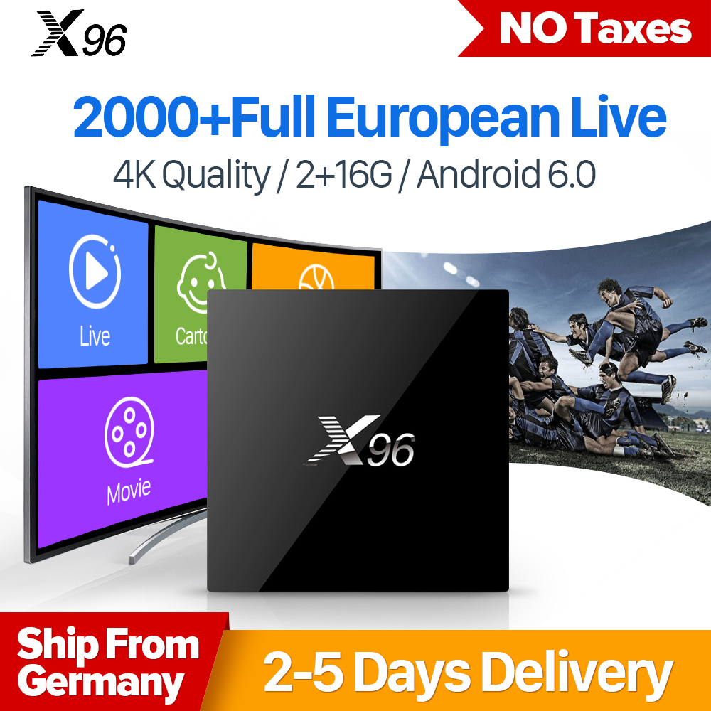 X96 TV Box Smart 4K Ultra HD 2GB 16GB Android 6.0 Movie Sports IPTV 1 Year IUDTV Subscription IPTV French Sweden Arabic IPTV Box movie iptv