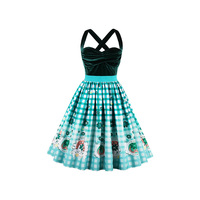 Sisjuly Women S Vintage Dress Summer Backless Sleeveless Plaid Strapless Spaghetti Strap Bohemian Casual Beach Feminino