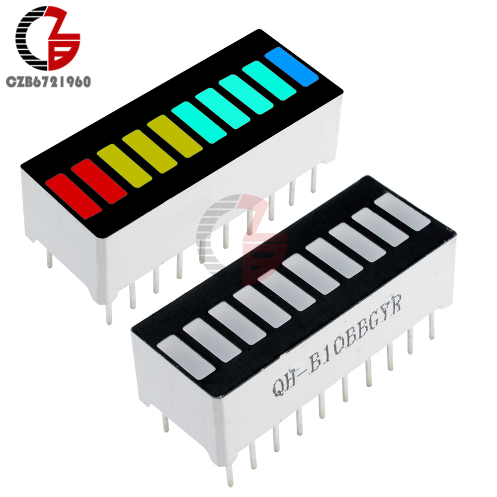 все цены на 10Pcs LED Display Module 10 Segment Bargraph Light Display Module Bar Graph Ultra Bright Red Yellow Green Blue Color Multi-color онлайн