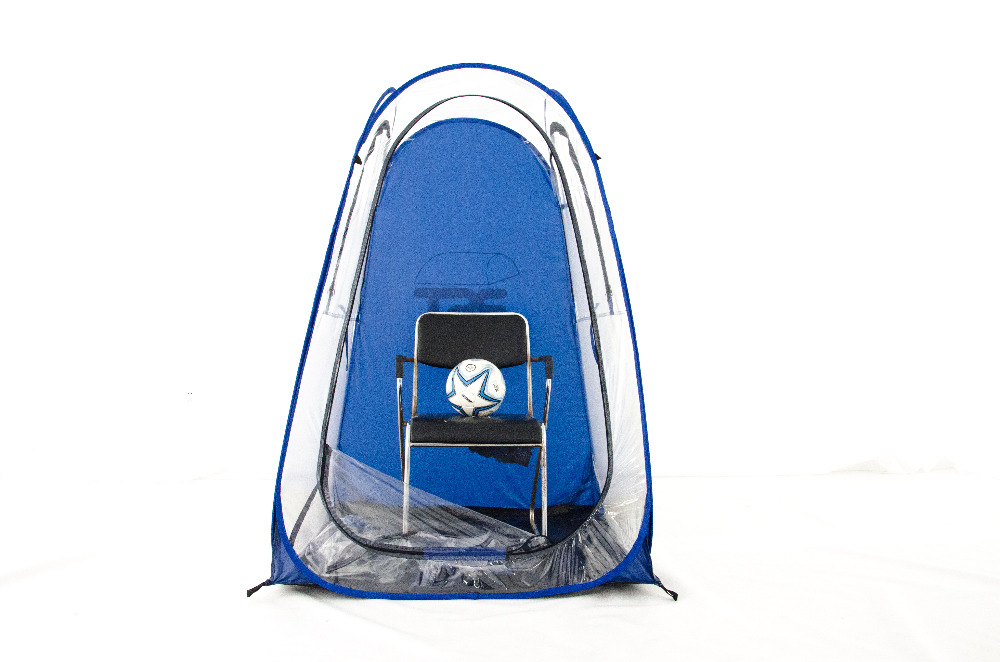 38db46d2479 single Outdoor rainproof Private sun shade insulation watching sports pop  up tent Keep warm portable PVC tent with hat on Aliexpress.com