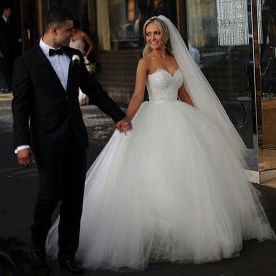 Strapless Ball Gown Puffy Wedding Dresses | Dress images