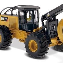 Литая под давлением игрушечная модель DM 1/50 масштаб гусеница кошка 555D колеса Skidder модель бренд Diecast Masters 85932 для подарка, коллекции, украшения