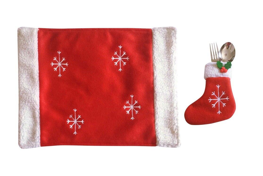 Sedie Decorate Per Natale : Calze e calzini stuoie cappello rosso di babbo natale