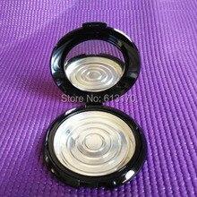10g Vuoto Cipria In Polvere vasi con Specchio di Alluminio Pan Nero 10ml FAI DA TE Make up Polvere Compatta di Imballaggio Cosmetico trasporto Libero di caso