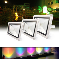 10W RGB Waterproof Multicolor LED Outdoor Flood Light 24key IR Remote 85 265V