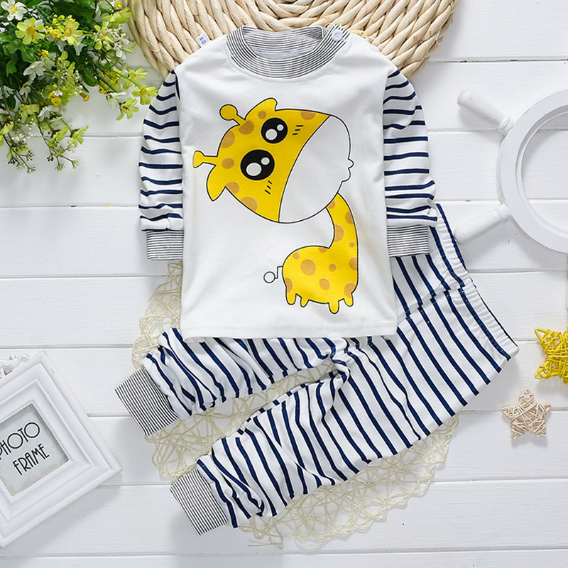 Health Soft Boys Girl Long Sleeve Cute cotton cartoon Children Clothing sets pants underwear lovely casual