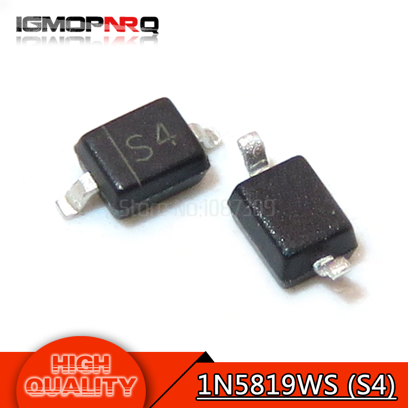 1N5819 SMD Diode  S4 1A//40V SOD-523 SMD Schottky Diodes Code S4