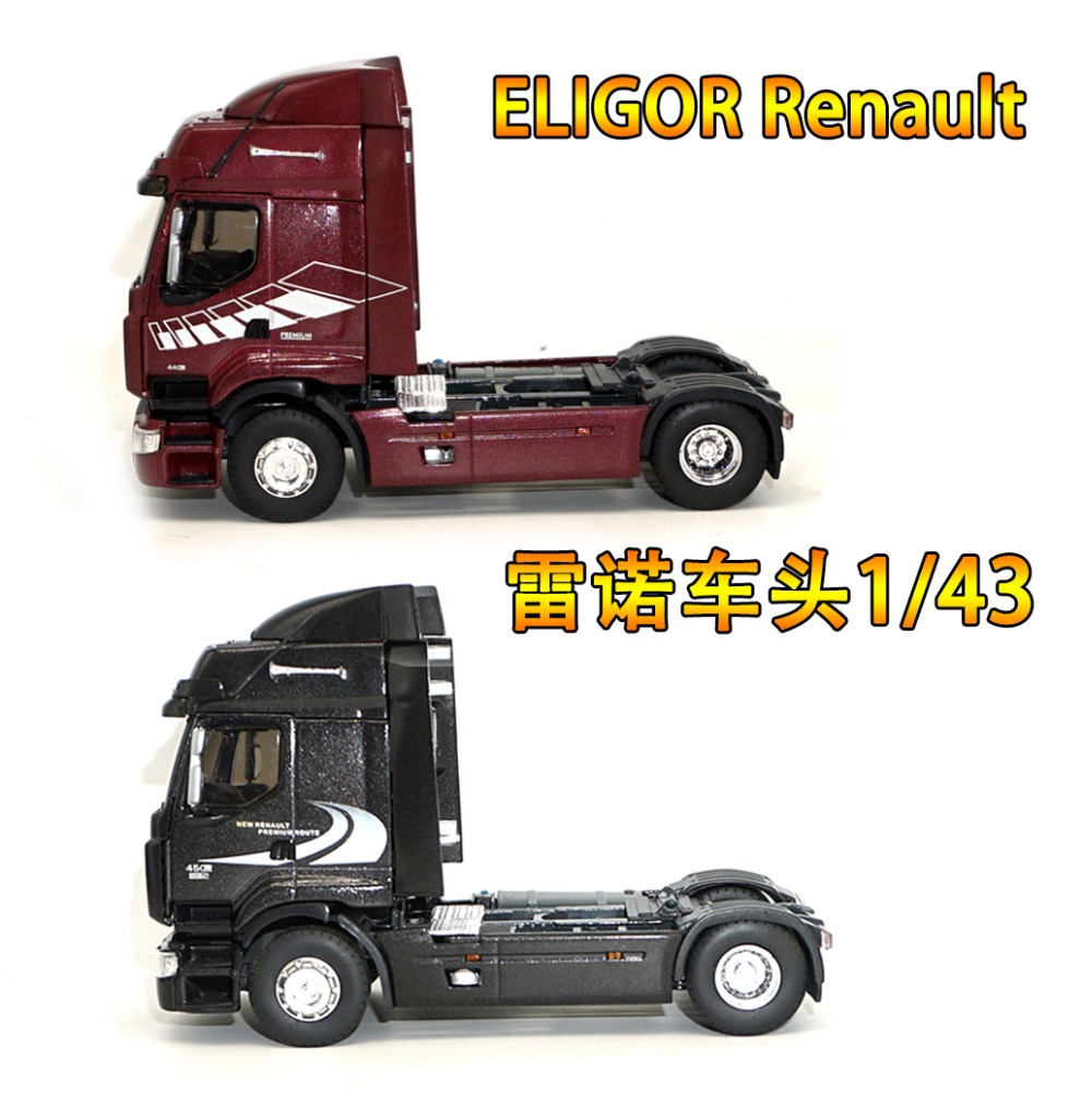 1/43 ELIGOR NEW Renault PREMIUM 44-45 Renault car trailer truck head alloy simulation truck model1/43 ELIGOR NEW Renault PREMIUM 44-45 Renault car trailer truck head alloy simulation truck model
