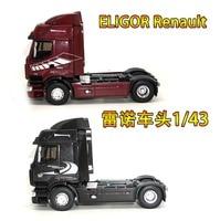 1/43 ELIGOR NEW Renault PREMIUM 44 45 Renault car trailer truck head alloy simulation truck model