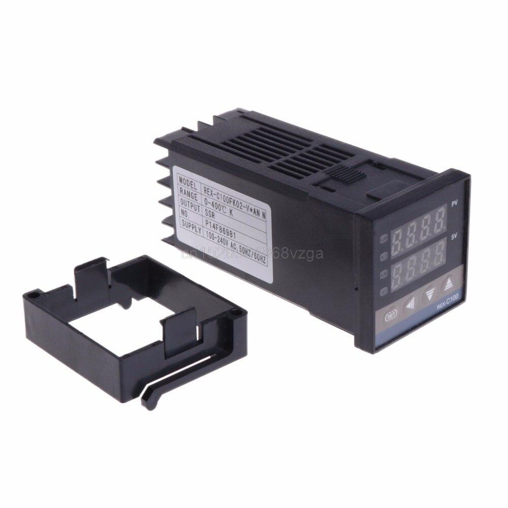 PID цифровой Температура контроллер REX-C100 от 0 до 400 градусов K Тип Вход ССР Выход темп контроллер F22 дропшиппинг