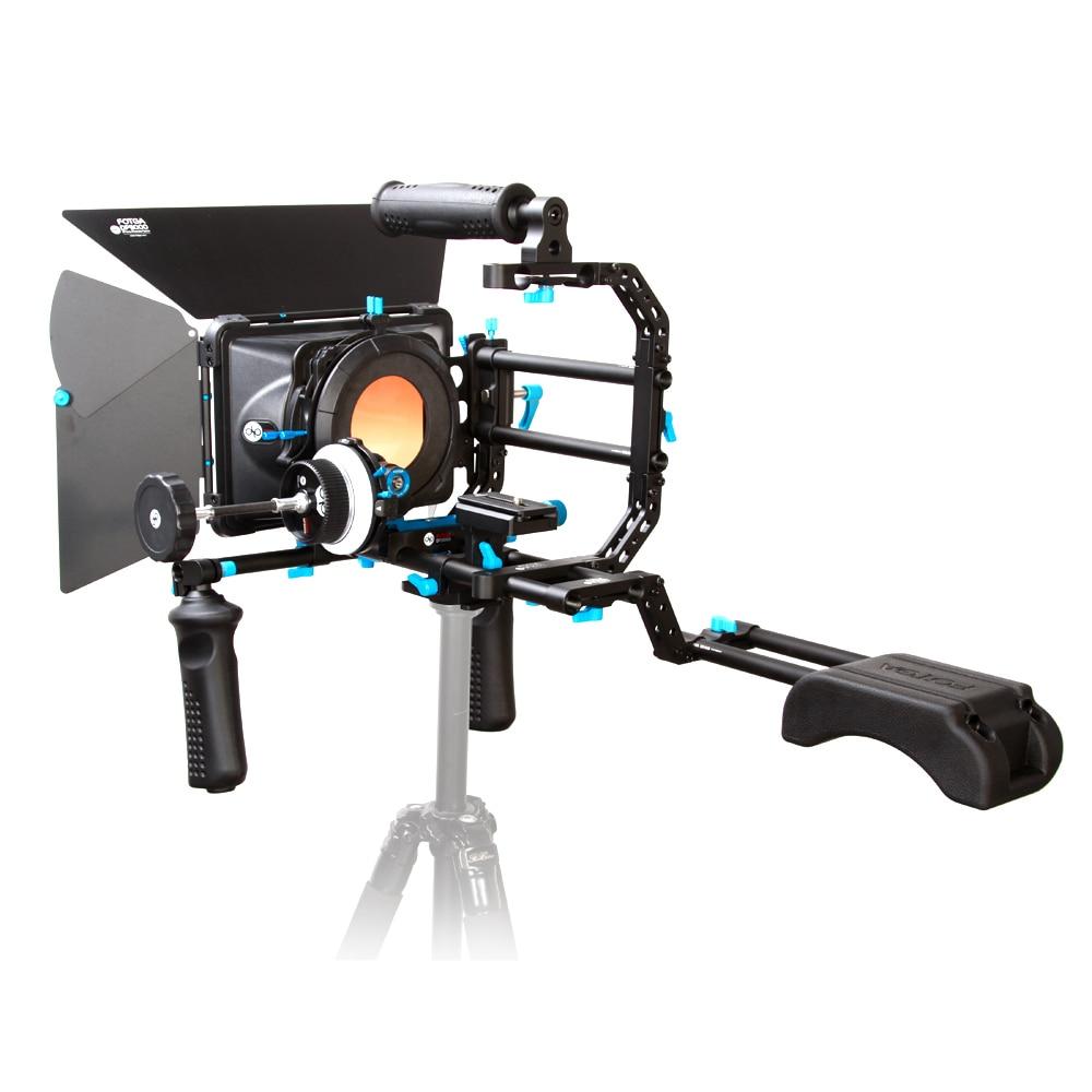 Fotga DP Series Standard Rig Set Movie Kit Film Making System Follow Focus + Matte Box + Top Handle with C-Bracket