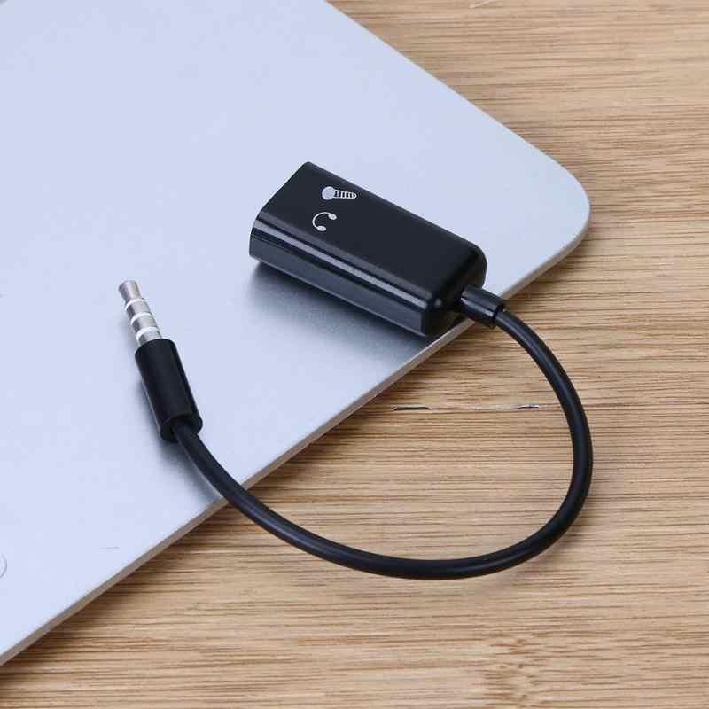 3,5 мм черный штекер-двойной женский аудио стерео гарнитура микрофонный сплиттер Adater кабель для смартфонов, MP3, компьютера, CD стерео