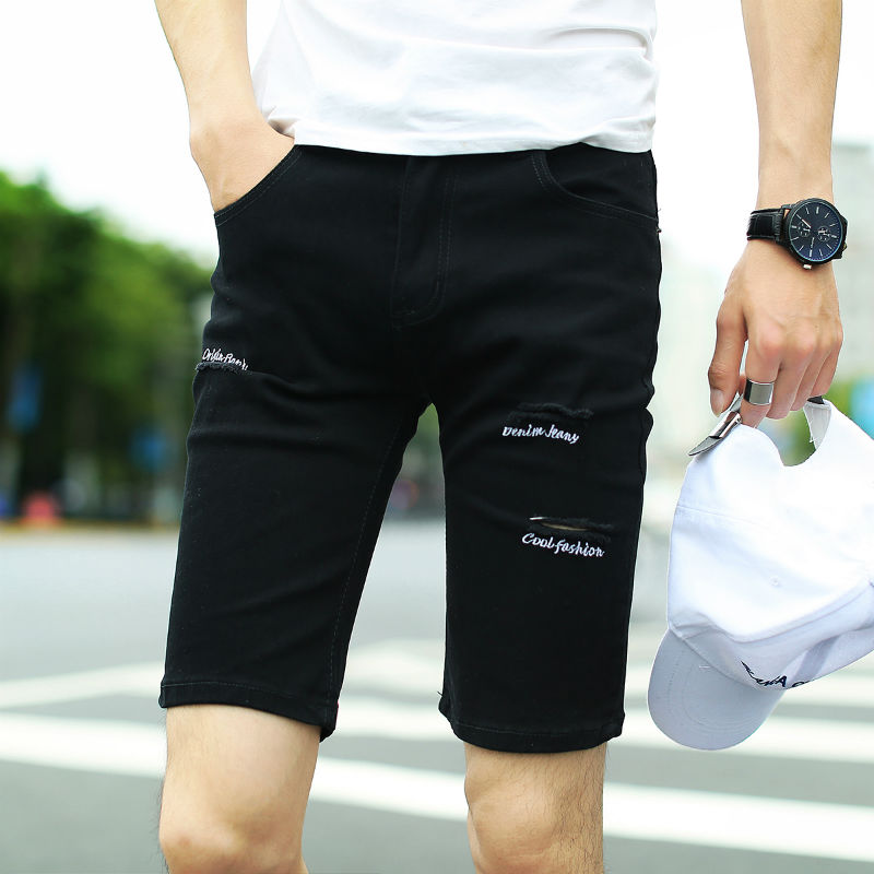 Compare Prices on Embroidered Denim Shorts Mens- Online Shopping ...