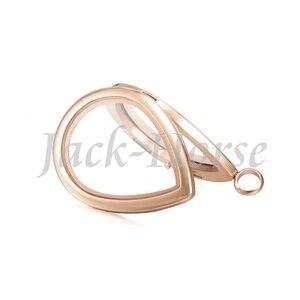 Image 5 - Новый плавающий медальон из нержавеющей стали 316 в форме капли воды! Плавающий медальон в форме капли