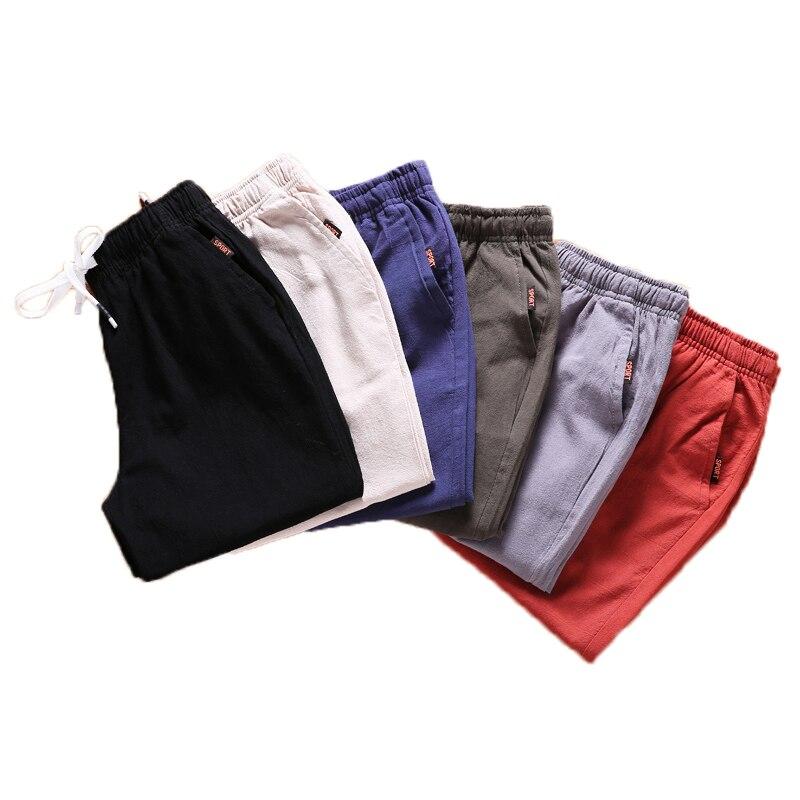 6 Stücke Leinen Shorts Männer Casual Bermuda Hosen Sommer Fitness Skateboard Kurze Männlichen Böden Komfort Meer Board Strand Shorts 941