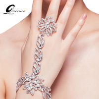 The New Fashion Bridal Bracelet Rhinestone Hand Chain Summer Style Bracelets For Women Wedding Dress Accessories