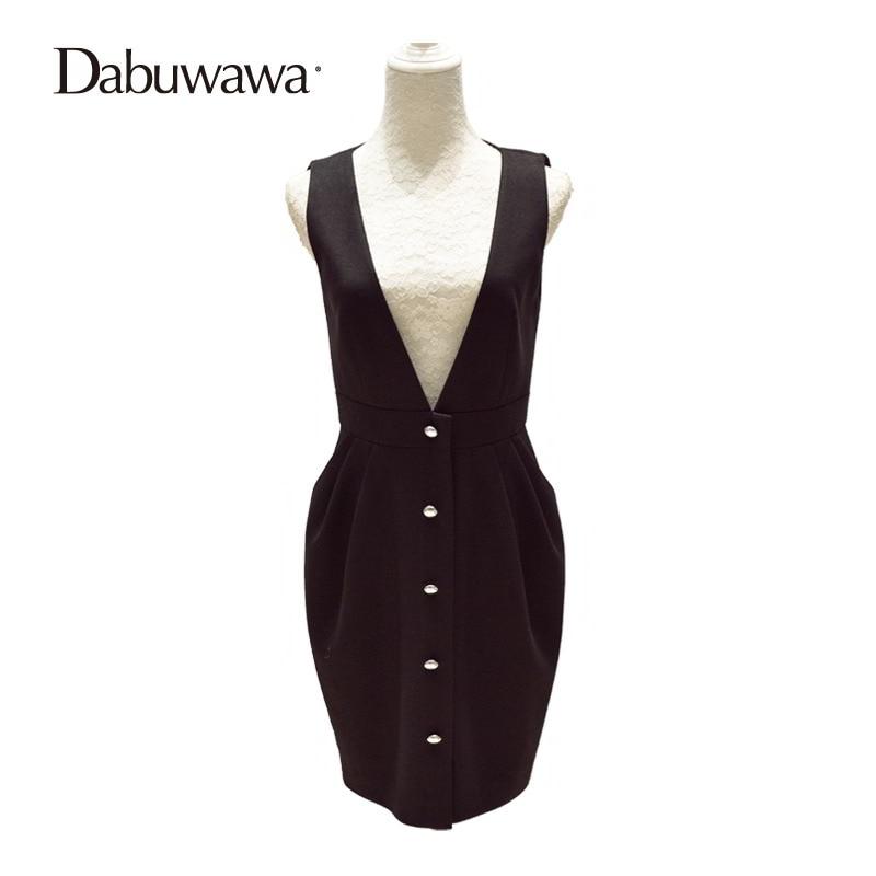 Dabuwawa Winter Women Short High Waist Work Slim Feminine Pencil Skirt Office Lady Skirts Casual Suspender Skirt #D16DDX010 dabuwawa woolen a line deep v split high waist plaid pleated skirt elegant suspender skirt sleeveless jumper skirts d17cdx009