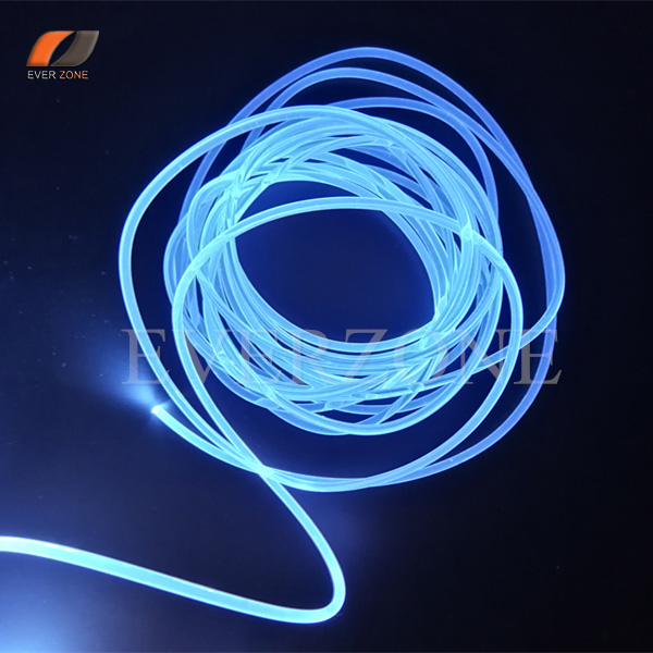 1.5mm Solid Core Sideglow Optic Fiber Light Cable for Interior Application 5m/lot