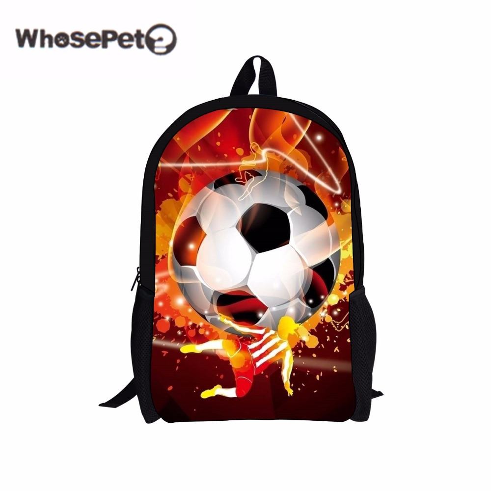WHOSEPET Ball Schoolbag For Punk Teenager Boy Book Bag Student Fashion Canvas Back Pack Primary School Mens Cool Shoulder Bag