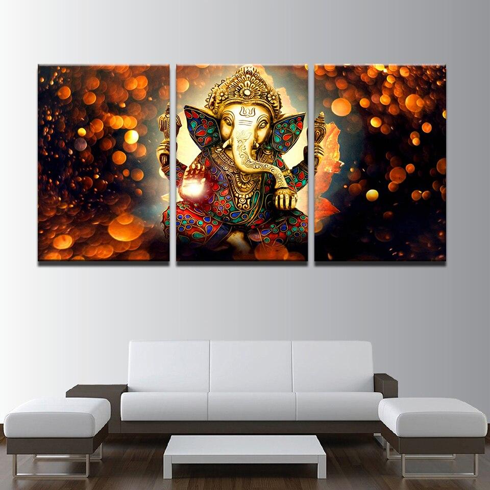 Modulare Bild Rahmen 3 Panel Elefanten Poster Print Leinwand Gemälde ...