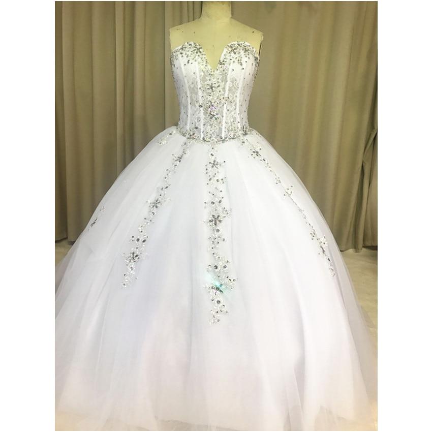 Luxury ball gown wedding dresses sweetheart diamonds for Big tulle ball gown wedding dress