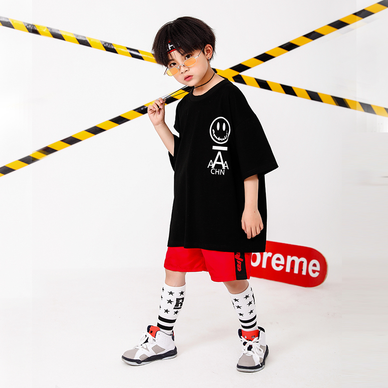 Boy Girl summer 2019 clothes Set 4 6 8 10 12 14 16T hip hop dance costumes kids Jazz set on the boy outfits kids clothes boys (7)