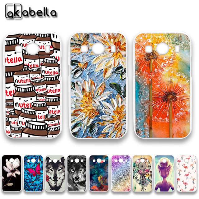 AKABEILA Soft TPU Plastic Phone Cases For Samsung Galaxy Ace 4 LTE G357FZ 4.3 inch Ace Style LTE G357 SM-G357FZ Covers Bags Skin
