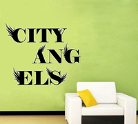 City Angel wall decals vinyl stickers home decor living room wall pictures bedroom adhesive wall paper quote