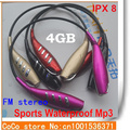 Envío gratis nueva piscina w262 MP3 deportes regalo auricular impermeable MP3 auriculares music player 4 gb dropshipping