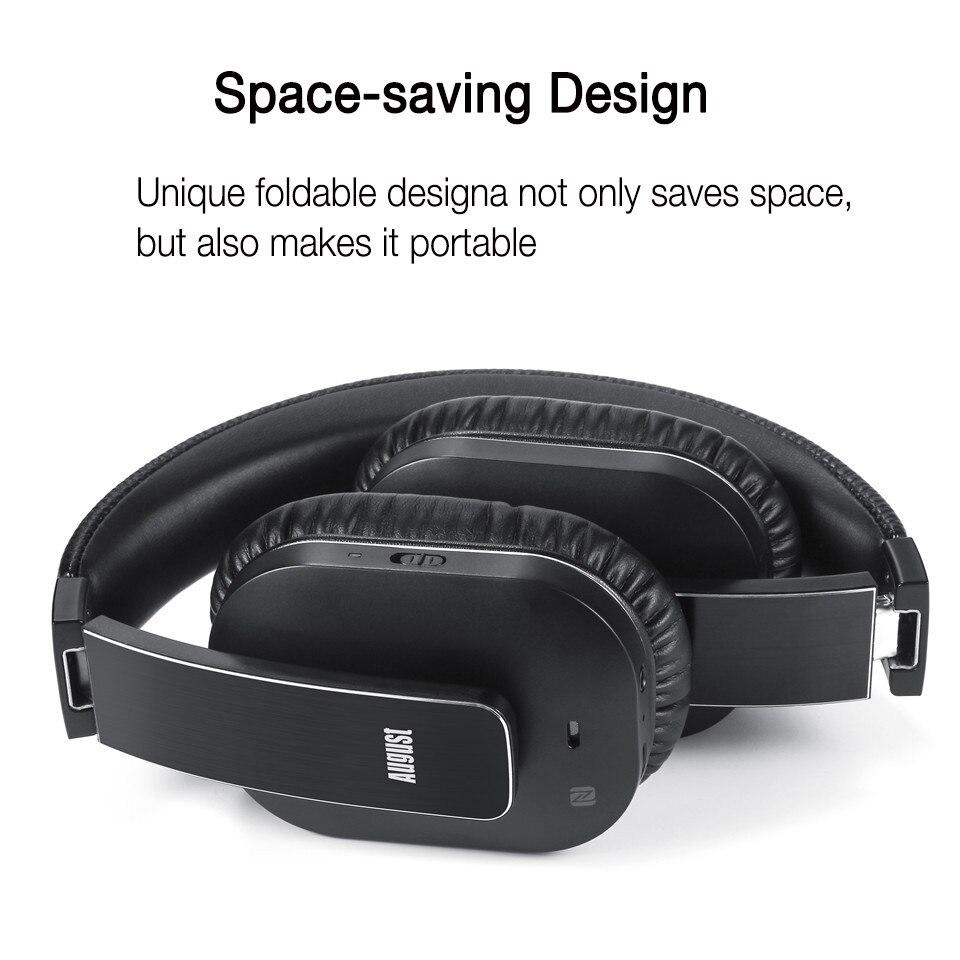 August EP750 Bluetooth наушники с AptX и активным шумоподавлением ANC - 4