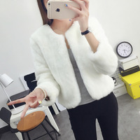 2018 Cause Long Sleeves Wedding Bolero White Bridal Jackets Accessories Winter Woman Party Coat Faux Fur