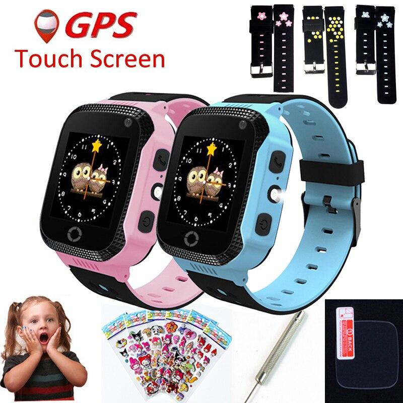 Q528 Y21 Q42 GPS niños reloj inteligente con cámara linterna bebé ver SOS llamada dispositivo de localización rastreador niño seguro del Q750 Q100