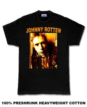 Johnny Rotten rock punk emo vintage retro T Shirt(China)