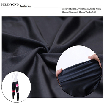 Siilenyond 2019 Women Winter Thermal Cycling Bib Pants Shockproof MTB Bike Cycling Bib Trousers With Coolmax 3D Gel Padded 4