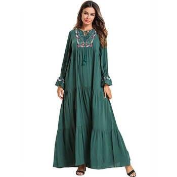 Plus Size Vestido Women Kaftan Abaya Dubai Arabic Islamic Muslim Hijab Dress Caftan Dresses Ramadan Elbise Robe Musulmane Longue - DISCOUNT ITEM  54% OFF All Category